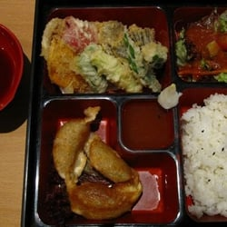 vegetable tempura bento box