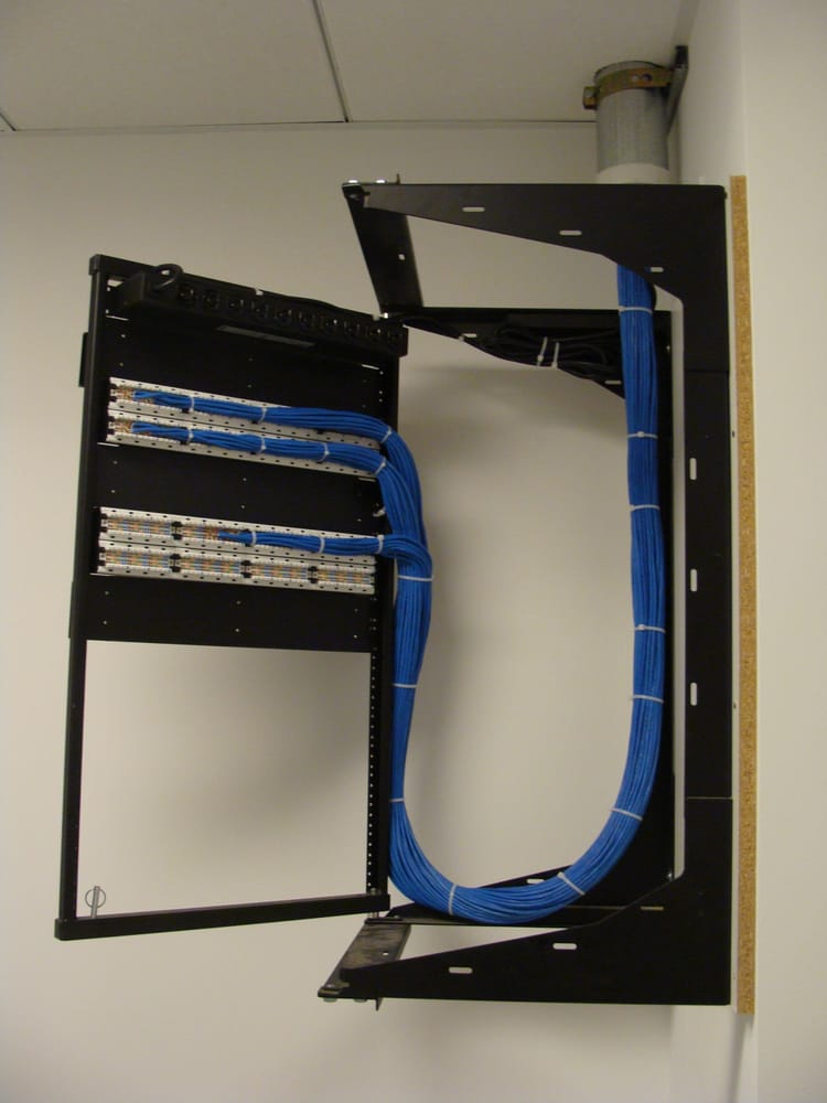 Cat6 Network Cabling On Swing Gate Wall Mount Rack Yelp