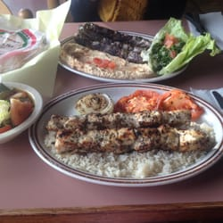 Beef kefta kabob plate with hummus and… by Jenny Y.