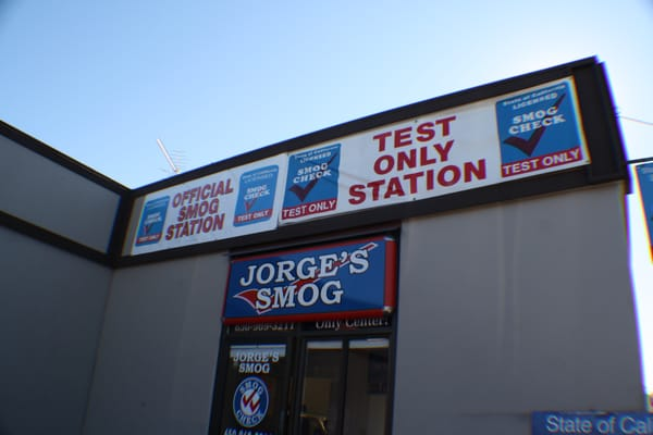 Jorge S Smog Test Only Station Mountain View Ca