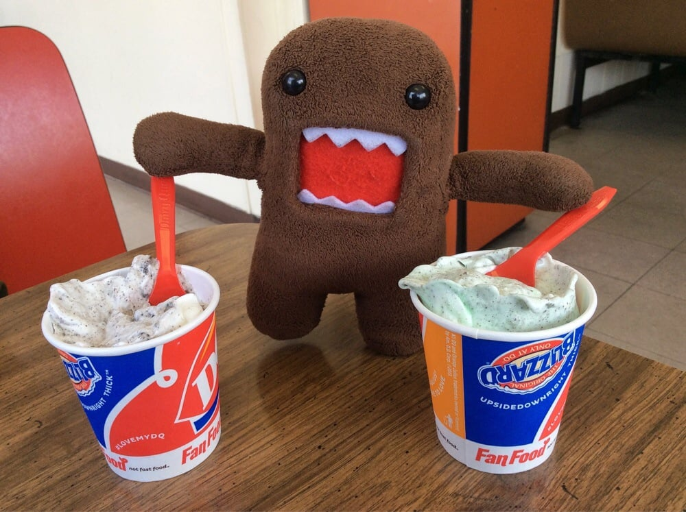 Eunice (LA) United States  City new picture : Dairy Queen Eunice, LA, United States. One Mini Oreo Blizzard for ...