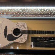 frontman of Reamonn, Rea Garvey, and Nelly Furtado signed this guitar - love both