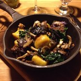Forage - Vancouver, BC, Canada. Squash Gnocchi with Wild Mushrooms and Kale (Dine Out 2014 menu)