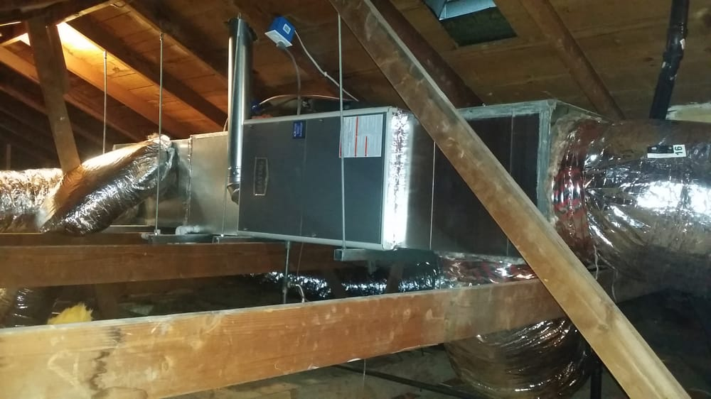 Hanging units in attic reduce most vibration from air ...