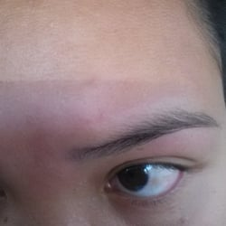 Nail Spa Plus - Look at my eyebrows! It looks like they werent even ...