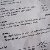 milkshake menu (so many options!)