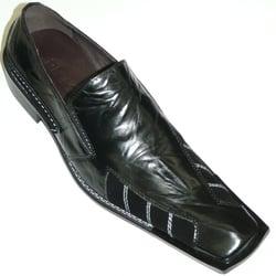 Zota Black Metal Toe Pointed Men New Monk Strap Trendy Slip on