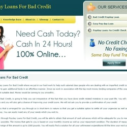 Payday Loans For Bad Credit, London