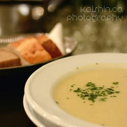 Mushroom soup of yellow boletes with…