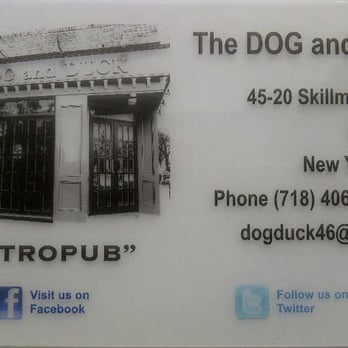 The Dog and Duck - Acrylic business card that is transparent - Sunnyside, NY, Vereinigte Staaten