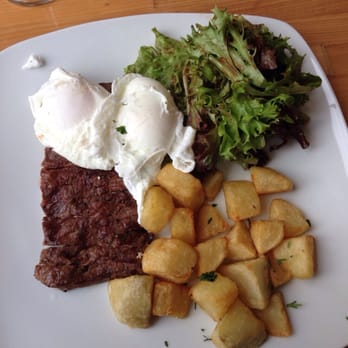 Ringolevio - Brooklyn, NY, United States. Steak and two poached eggs