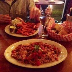 Maxie's Supper Club & Oyster Bar - Jambalaya and pulled pork sandwich...
