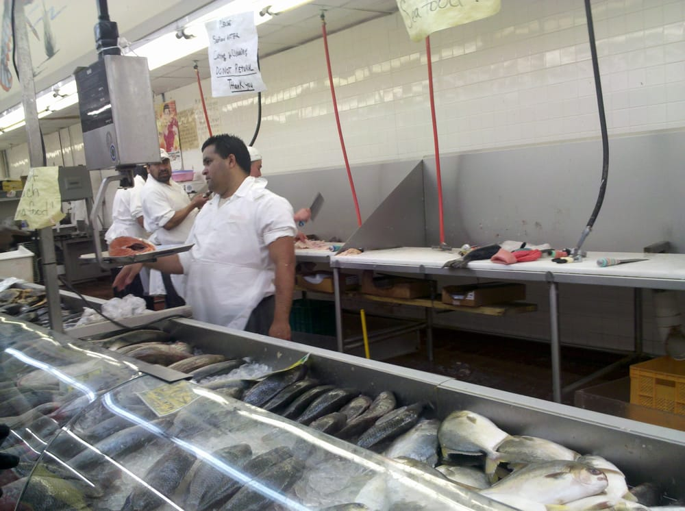 They cut the fish fresh for you be ready to plug your for Fresh fish market houston
