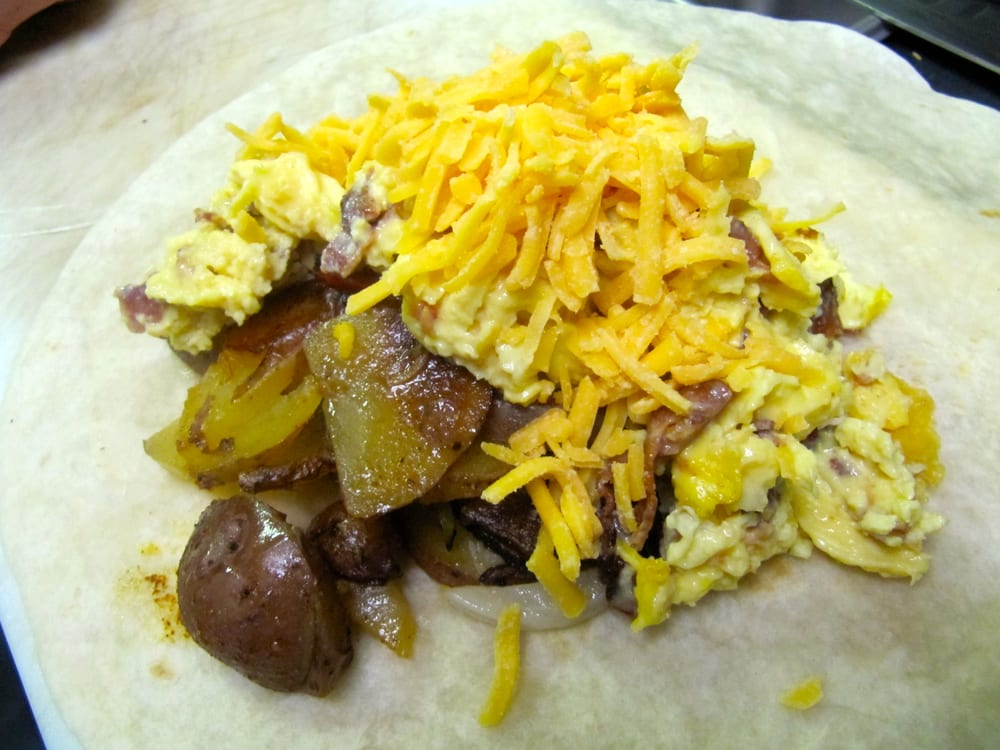 Pine Haven Cafe - Breakfast Burrito, Scrambled Eggs, Home Fries and ...