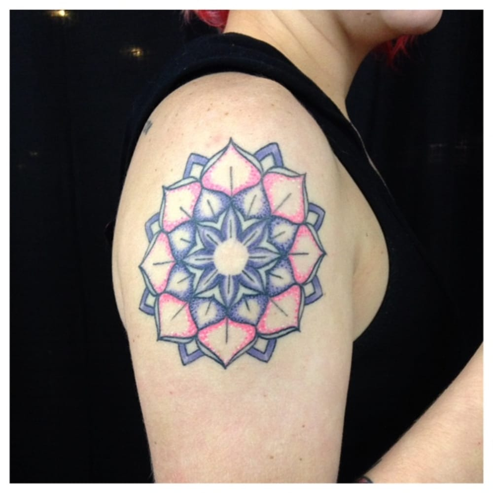 Mandala tattoo by dave yelp for Iron lotus tattoo
