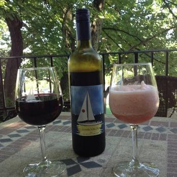 James River Cellars Winery - Chambourcin and a white wine slushi ...