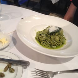 Spaghetti with Pesto and Mozzarella