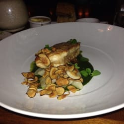 Second course.  White fish with roasted almonds and some other good stuff