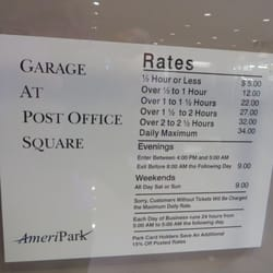 Garage At Post Office Square Parking Financial