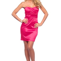 Satin Strapless Dress - H9296