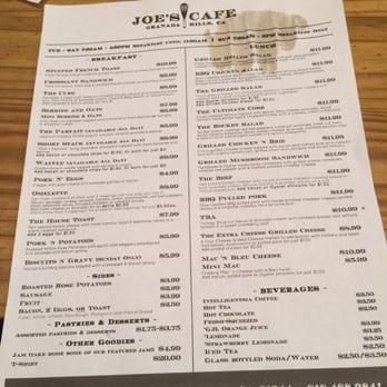 Joe S Cafe Granada Hills Breakfast Menu