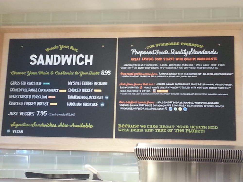 Sandwich Deli Menu