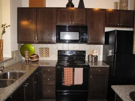 Granite Countertops In Kitchen Black Appliances Yelp