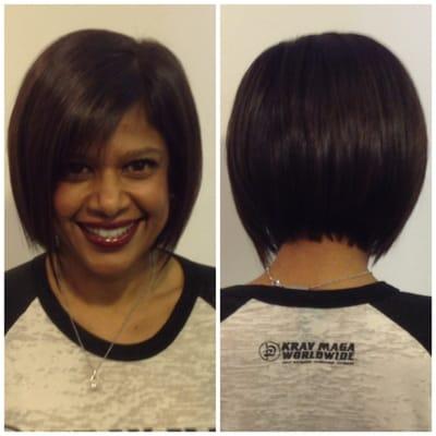 Laura Lawson - Texturized & Razored Bob Haircut - Torrance, CA, United ...