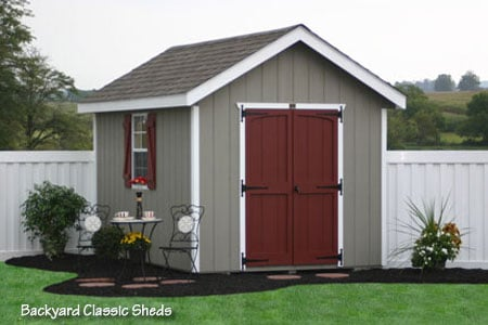 8x12 classic workshop storage shed from sheds unlimited in for Sheds unlimited