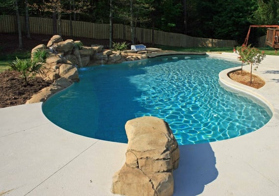 Fantastic Vinyl Pool With Swim Up Bar And Waterfall Yelp