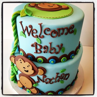 Sugar Mill Cake - Monkey baby shower cake - Oakland, CA, United States