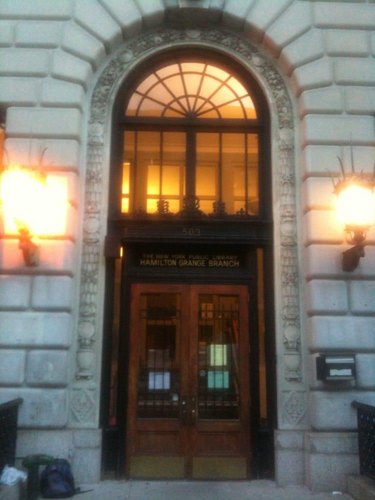New york public library hamilton grange library for 1633 broadway 3rd floor new york ny 10019