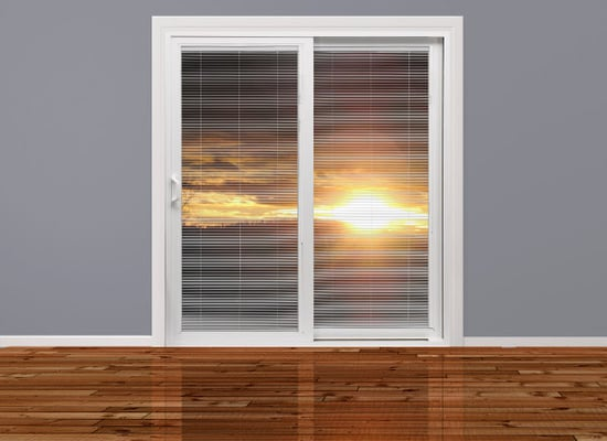 Milgard Tuscany Sliding Glass Door Amp Blinds Yelp