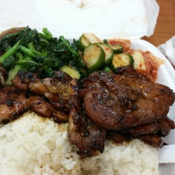 Yummy korean b b q korean kalihi honolulu hi yelp for What sides go with barbecue chicken
