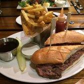 Shaved Prime Steak Sandwich (Horseradish Sauce, Au Jus, Frites, Pickle ...