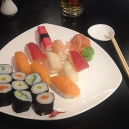 Enjoying my night off with sushi & beer before having to go back to work for several straight days coming up.