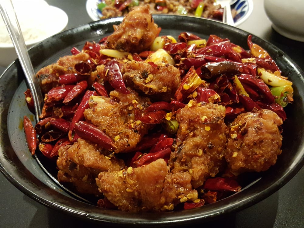 "... CA, United States. Chicken Wings ""Explosive"" Chili Pepper @ $12.99"