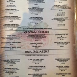 Corner Cafe Griffin Ga Menu