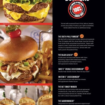 Dave amp buster s braintree ma united states the menu makes claims