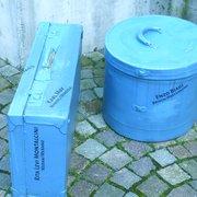 Blaue Werbung Meran, Merano, Bolzano, Italy