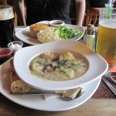 Irish Stew with Porterhouse Beer Grain Bread + Temple Brau lager = Winning combination!