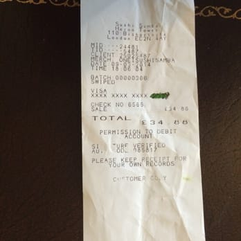 This was my receipt.