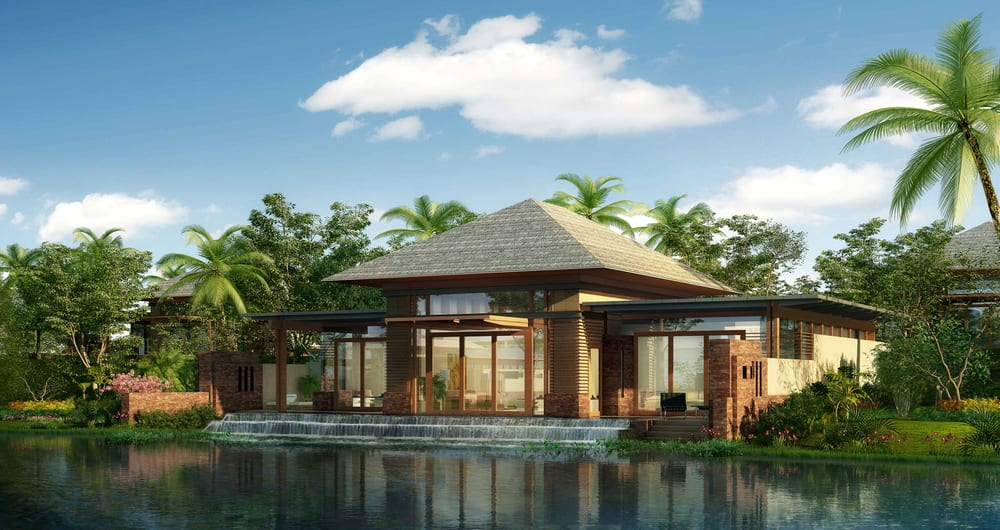 A luxury tropical resort bungalow yelp for Bungalow design concept