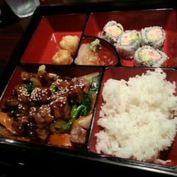 Chopstix Gourmet and Sushi Bar - Teriyaka Beef Bento Box - Raleigh, NC, Vereinigte Staaten