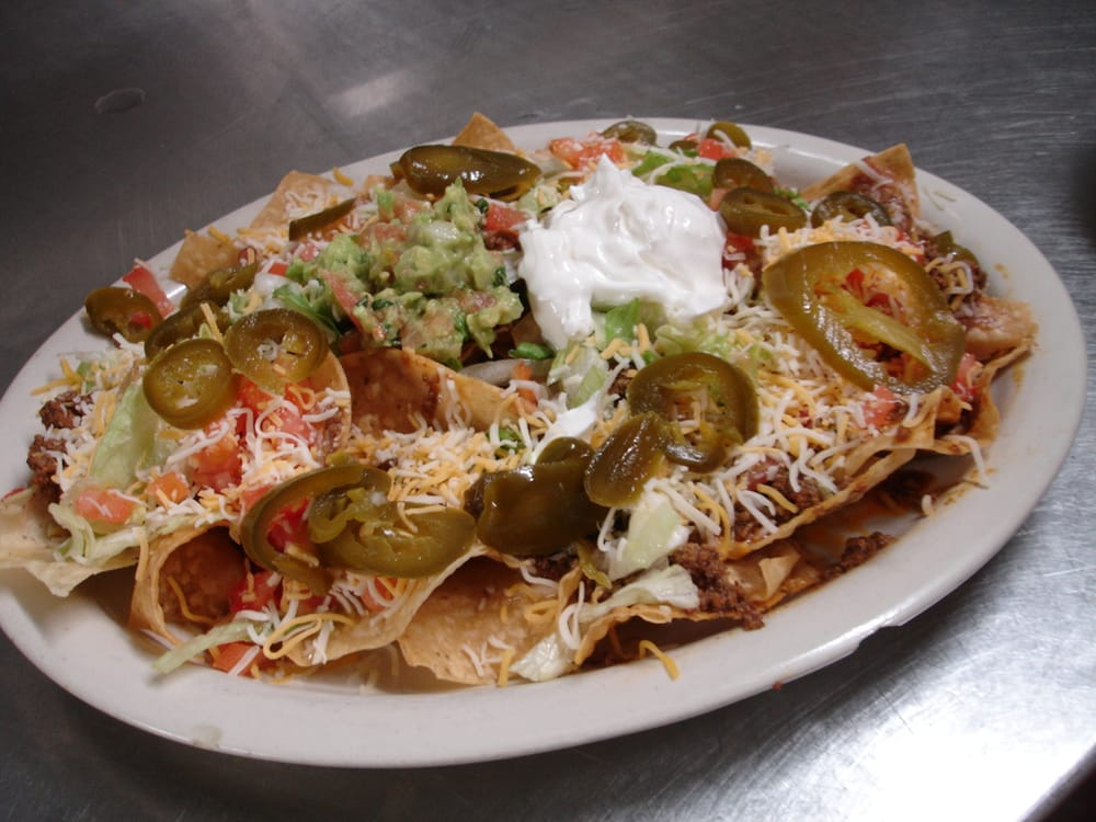 "Layered ""Super"" Nachos Recipes — Dishmaps"