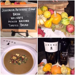 Delicious artichoke soup  at Flavor! Napa NOV 22, 2014 Appellation Trail