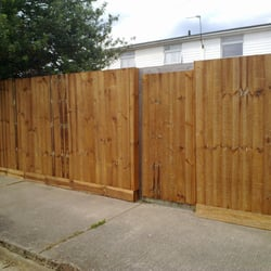 adn the same fence with new materials  i…