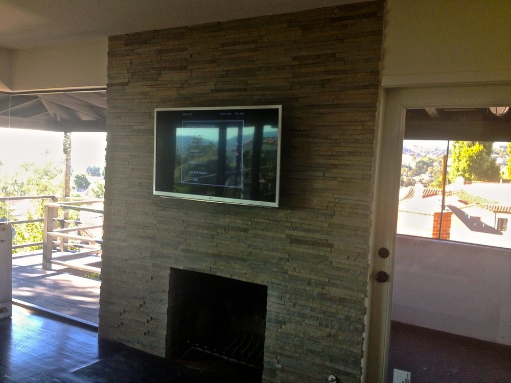 TV on Stucco Concrete or Brick Wall installation Yelp