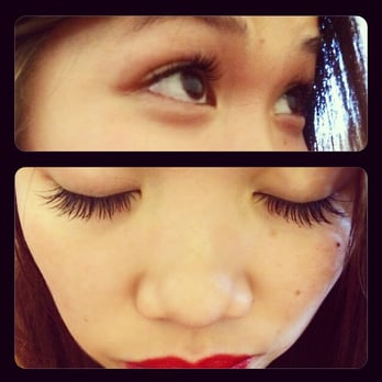 """Natural"""" Silk eyelash extensions by Ray. Took 1hr 45mins. I love them"""