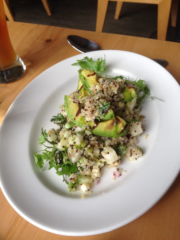 ... Grilled Avocado & Quinoa Salad with White Corn, Jicama, Pumpkin Seeds